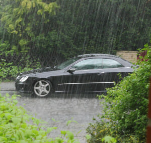 CAr in Heavy Downpour